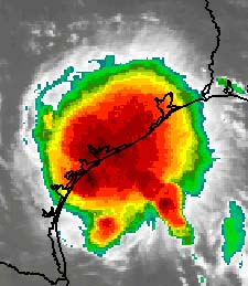 Tropical Storm Erin Hitting Texas Coast