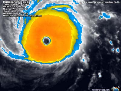 Hurricane Flossie - August 13, 2007